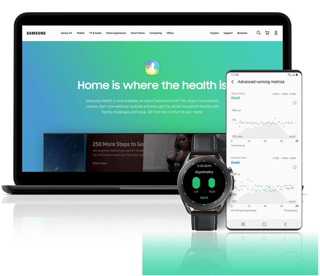 Keeping fit with Samsung Health